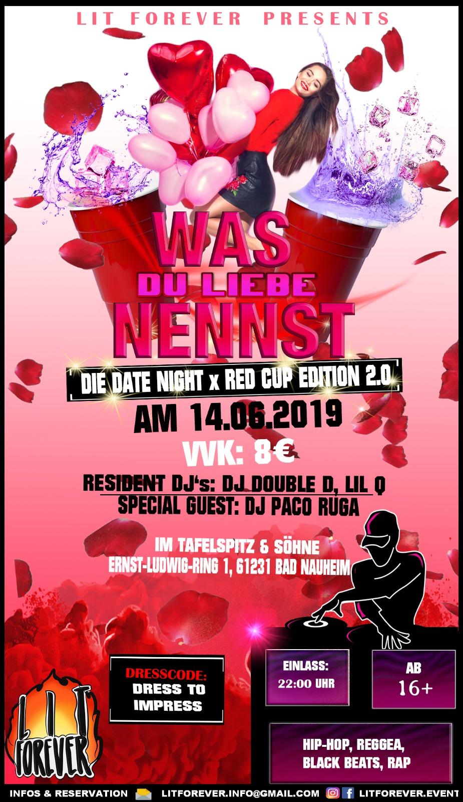 Was Du Liebe Nennst - DIE DATE NIGHT PARTY (16+)