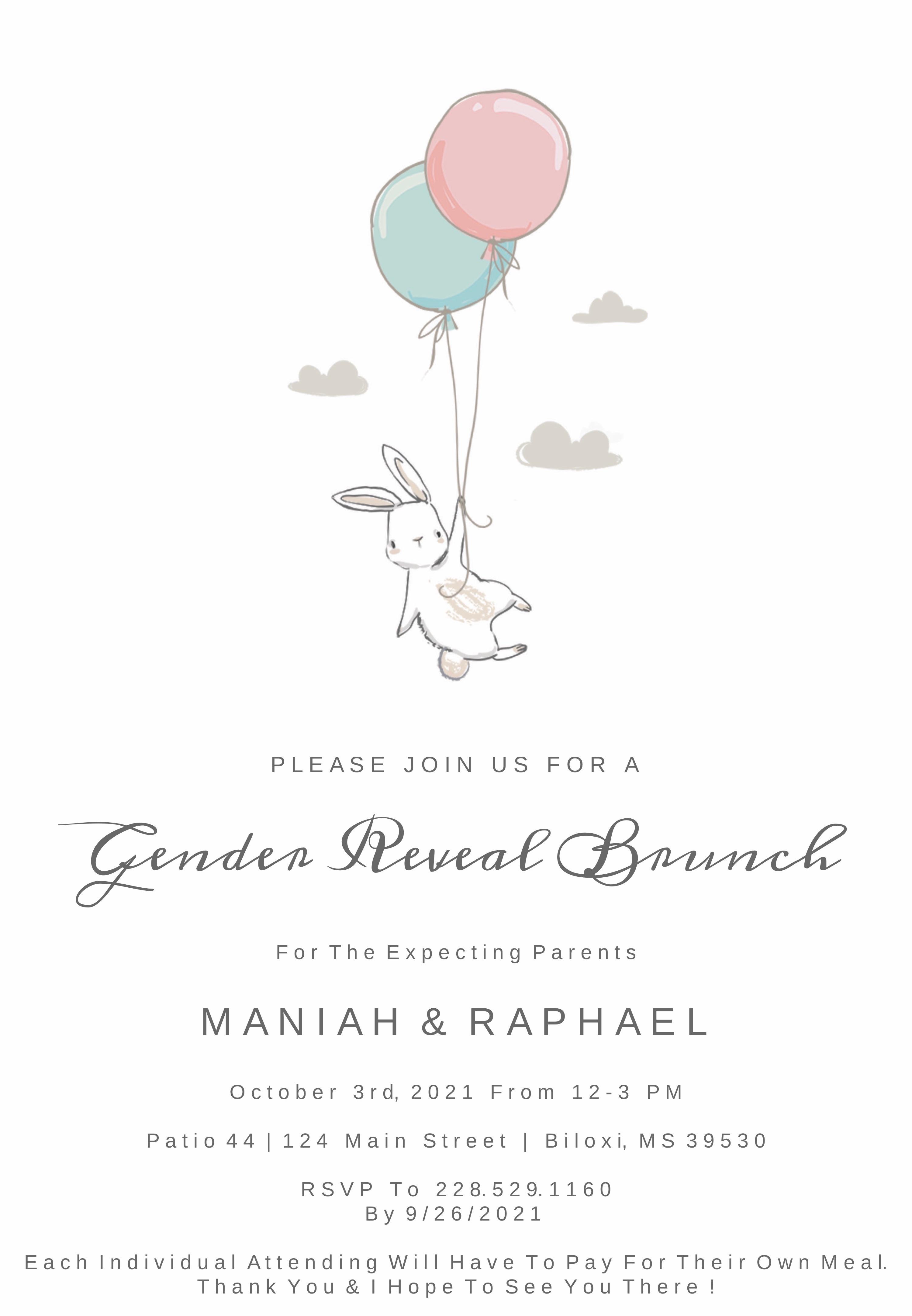 Maniah & Raphael's Gender Reveal Brunch Sign-Up
