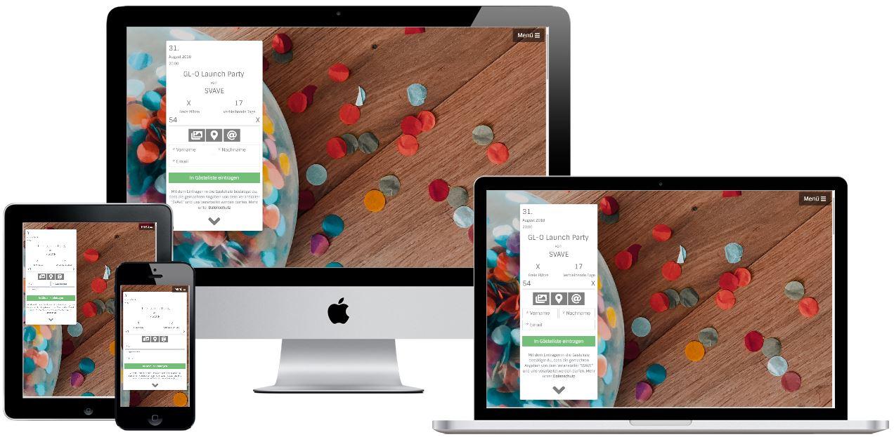 Guestlist-Online Screen Mockup